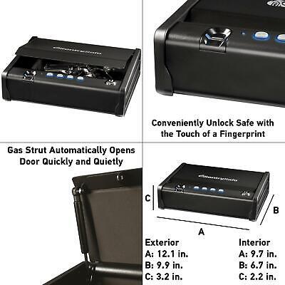 qap1be one handgun capacity gun safe with biometric lock | pistol sentrysafe box