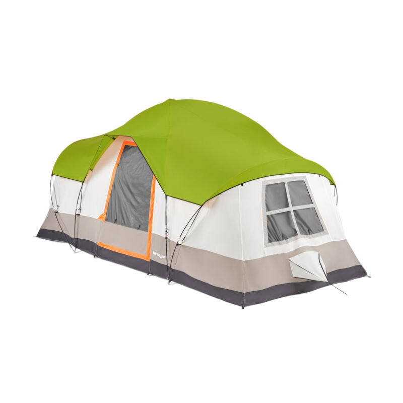 Tahoe Gear Olympia 10 Person 3 Season Camping Tent, Green and Orange (Open Box)