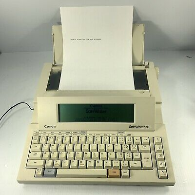 Canon Starwriter 30 Personal Publishing Systemtypewriter Word Processor - Works