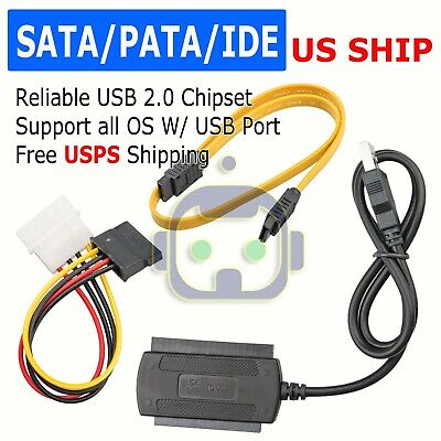 - SATA/PATA/IDE 2.5 3.0 to USB 2.0 Cable Serial ATA Adapter For HDD/SSD Hard Drive