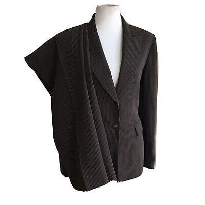 TAHARI Women 2 PC Brown Pinstriped Pant Suit Size 12