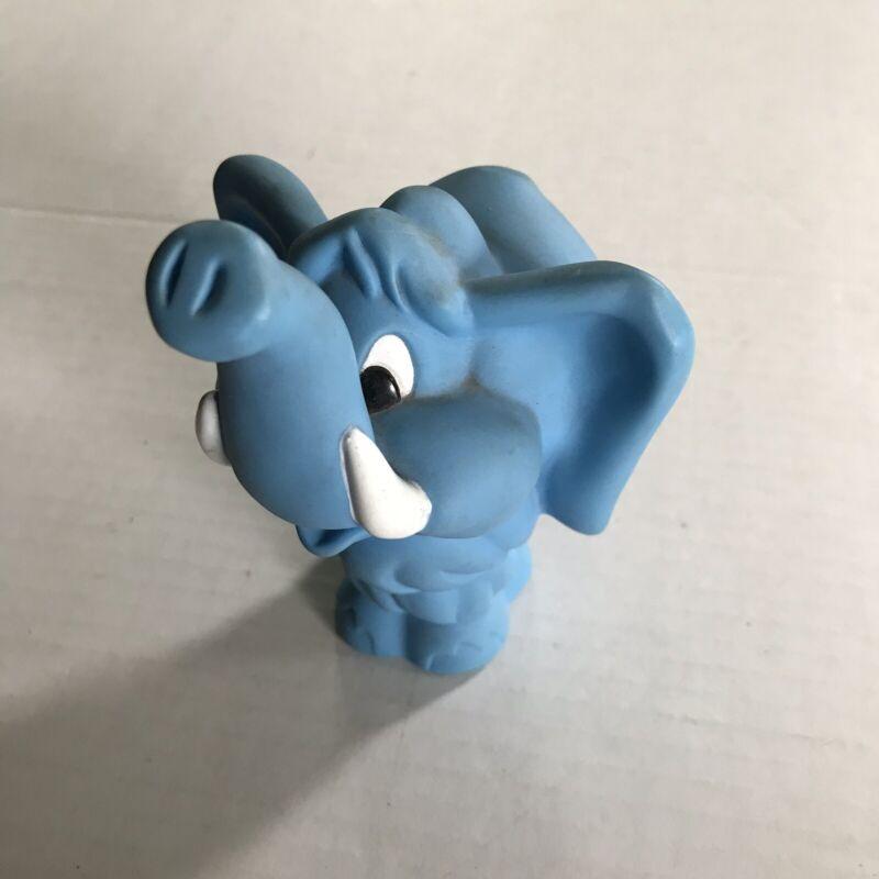 Vintage Hanna-Barbera 1986 Flintstones Blue Elephant Plastic Figure Cartoon 5''