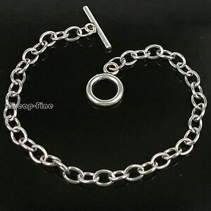 Wholesale lots 10pcs Stainless Steel chain bracelet for dangles charms 20cm