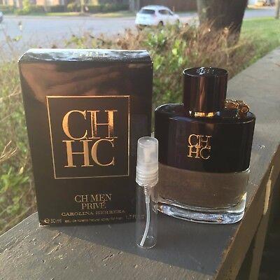 Carolina Herrera Ch Men Prive Sample   5Ml In Quality Glass Travel Spray