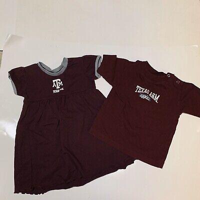 Infant Girls 6-9 Months Texas A&M Dress & shirt Bundle Deal
