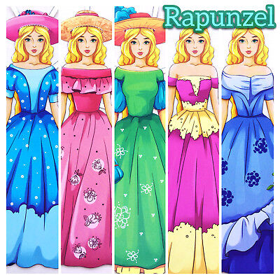 RAPUNZEL. 2 Paper Dolls. Developing Book. Fairy Tale Fine Motor Skills Fantasy