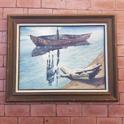 Ainslie Roberts Art Print Wuluwait Boatman of the Dead Vintage Framed Aboriginal