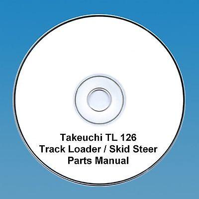 Takeuchi  TL126 TL 126 Skid Steer / Tracked loader Parts Manual