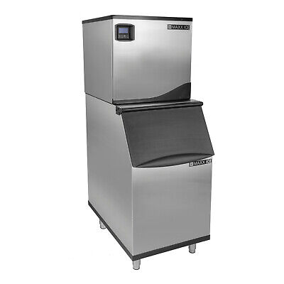 Maxx Ice 22 Inch Commercial Modular 360Lb Clear Ice Maker Machine with 280Lb Bin