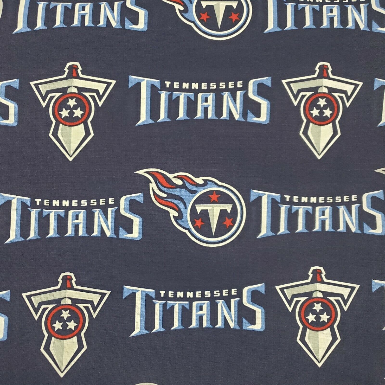NFL TENNESSEE TITANS LOGO Cotton Fabric by the 1/2 HALF-YARD