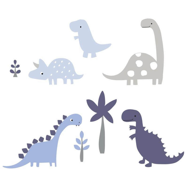 Bedtime Originals Roar Blue/Gray Dinosaur Wall Decals/Appliques