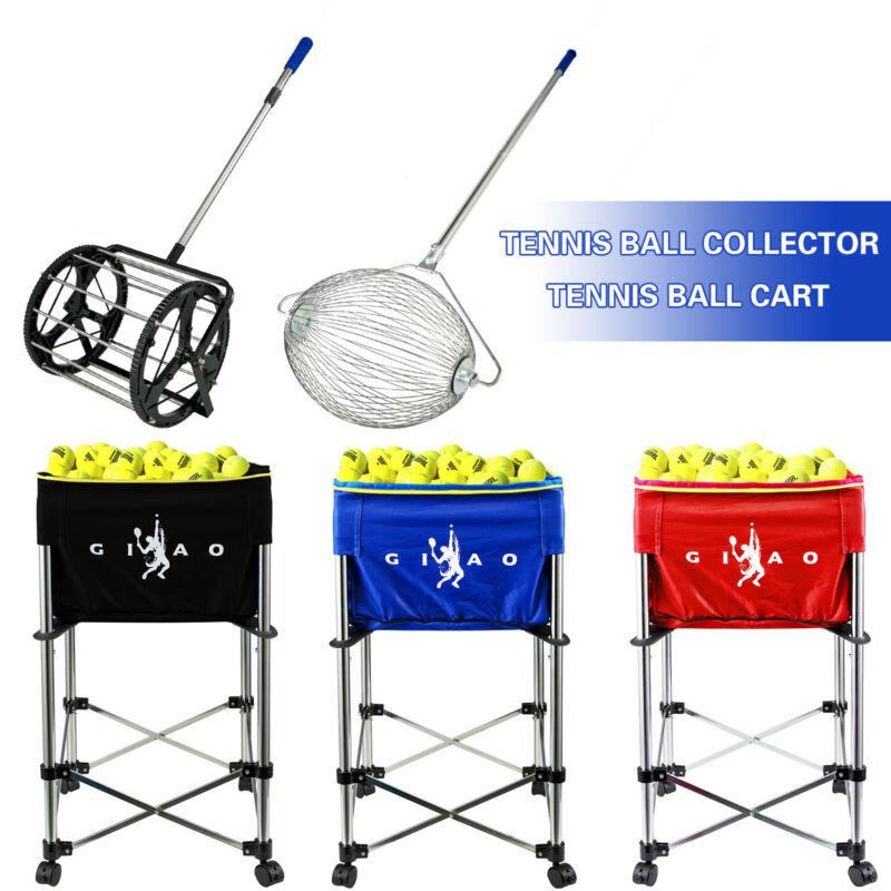 Tennis Ball Picker Ball Collector Teaching Ball Cart Ball Basket Tennis Hopper