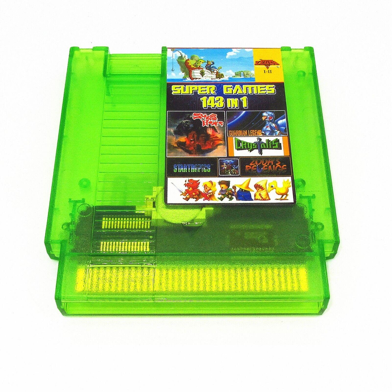 Super Games 143 in 1 Nintendo NES Cartridge Multicart - Newe