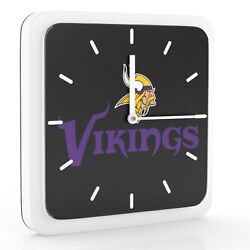 New 3 in 1 NFL Minnesota Vikings Home Office Decor Wall Desk Magnet Clock 6