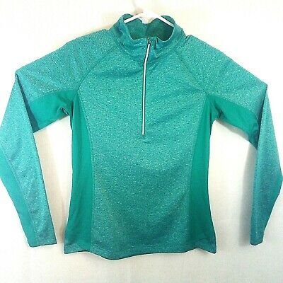DANSKIN NOW SEMI-Tailor-made WOMEN'S SMALL (4-6) DRI-MORE HALF ZIP ACTIVEWEAR TOP