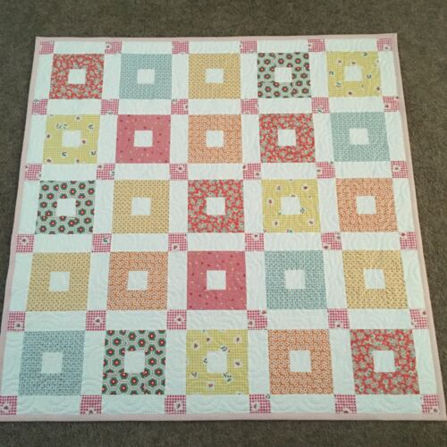 Handmade Baby or Toddler Quilt-Pink 1930
