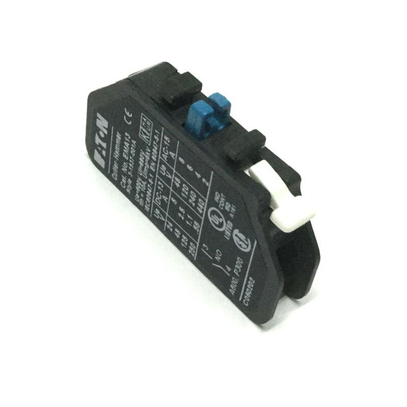 Eaton Cutler Hammer EMA13 Auxiliary Contact Block 600V 10A 6kV NO Normally Open
