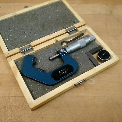 Unknownunbranded 1-1.8 V-anvil Micrometer 0.001 Tolerance - Used