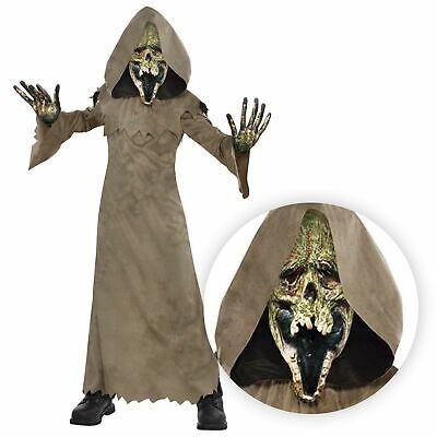Jungen Mädchen Sensenmann Braun Mantel Swamp Zombie Halloween Kostüm - Grausige Kostüm
