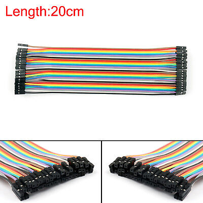 10 X 40pc Dupont Wire Jumper Cables 20cm Female To Female For Arduino Ue