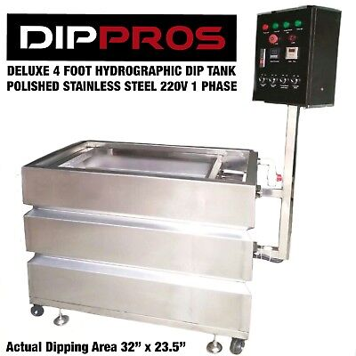 4 Foot Professional Stainless Hydrographic Water Transfer Dip Tank Dipping