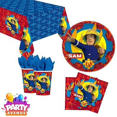 Fireman Sam Hero Childs Birthday Party Tableware Plates Cups Napkins Tablecovers (Fireman Birthday Party)