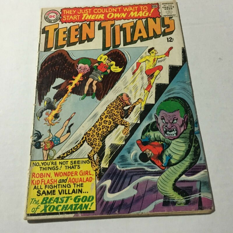 TEEN TITANS #1 Silver Age Key issue 1966 DC Comics #D VG/F