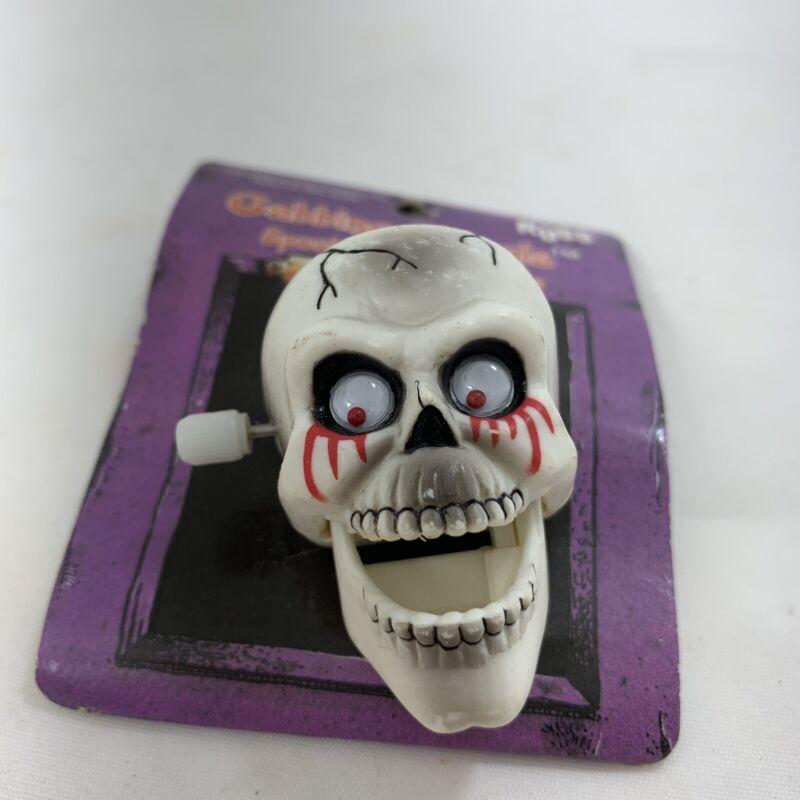 Russ HALLOWEEN Pin SKELETON Head SKULL Holiday Ghouls Vintage Novelty