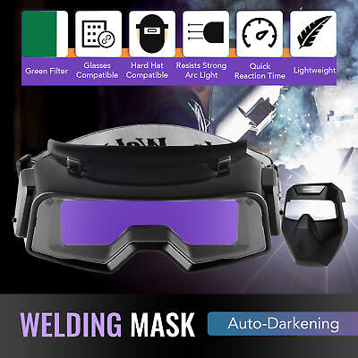 Auto Darkening Welding Helmet W Detachable Goggles For Welding Grinding Cutting