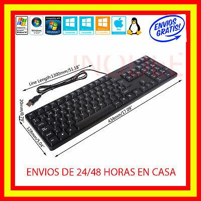 Teclado en Español con cable USB IMPERMEABLE /PC Wired Keyboard con letra...