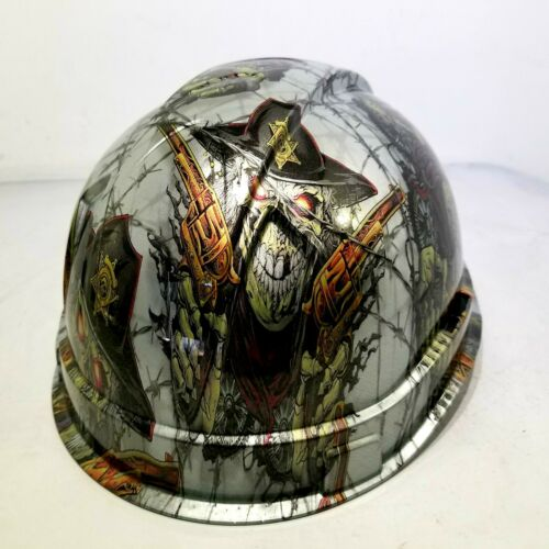 Hard Hat custom hydro dipped , OSHA approved DIRTY DIRTY HARRY OLD WEST NEW 3