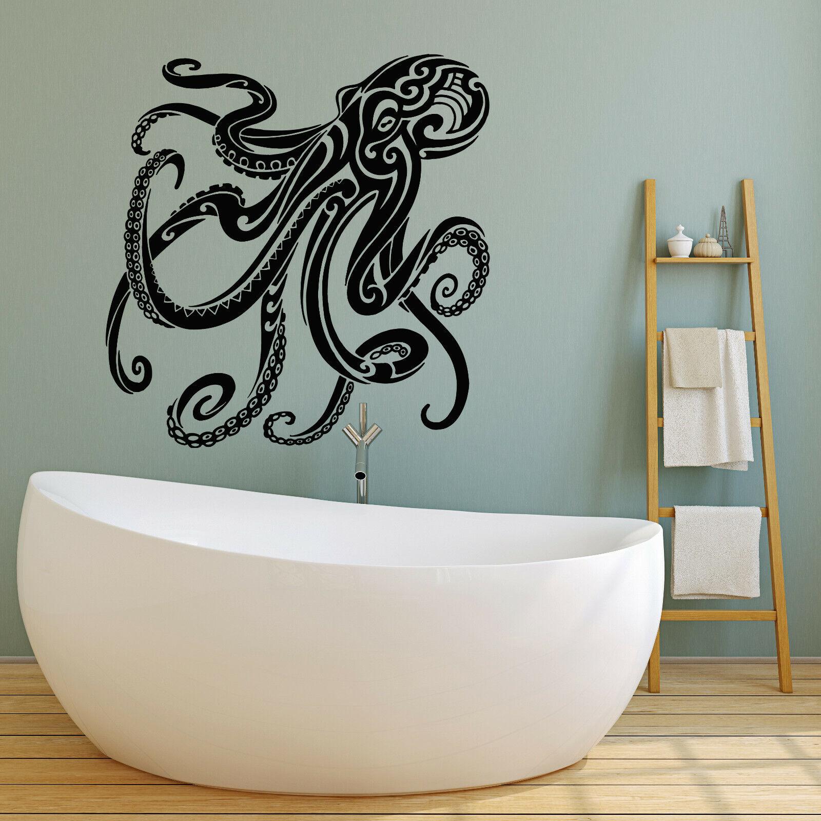 Vinyl Wall Decal Nautical Animal Octopus Ocean Marine Sea St