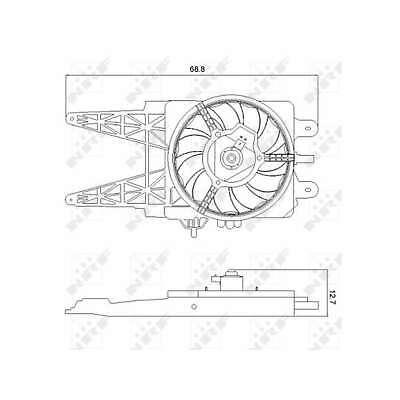 Genuine NRF Engine Cooling Radiator Fan - 47248