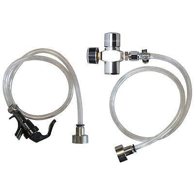 Keg Dispense Kit Tap Party Pump Mini Co2 Regulator Tank System Sankey Coupler