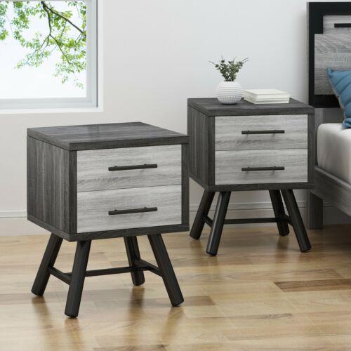 Amariana Mid-Century Modern Nightstands (Set of 2) Furniture