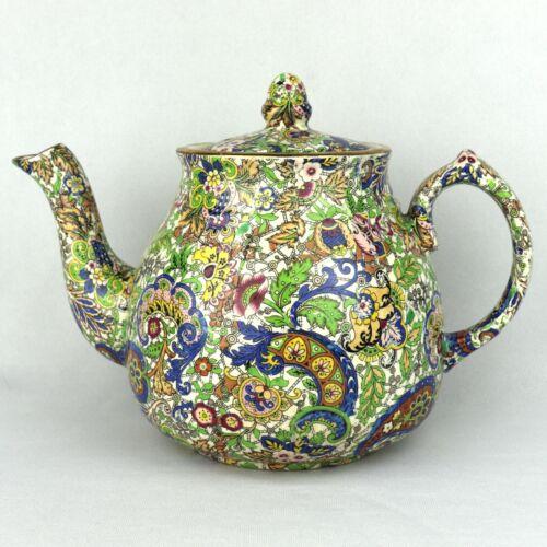 Vintage Wade Heath England - Paisley Blue Teapot - circa 1940s