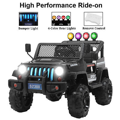 12V Powered Kids Ride on Toy Car Electric Battery w/Remote Control 3 Speed Black