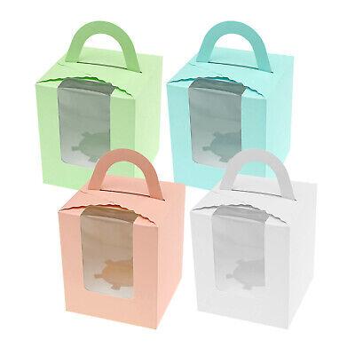 enbox Cupcake Muffin Kuchenboxen Durchsichtigen Fenster (Cupcake Box)