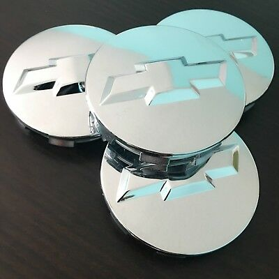 (4 Chrome Wheel Rim Center Hub Cap Chevy Silverado Suburban Tahoe 83MM 3.25