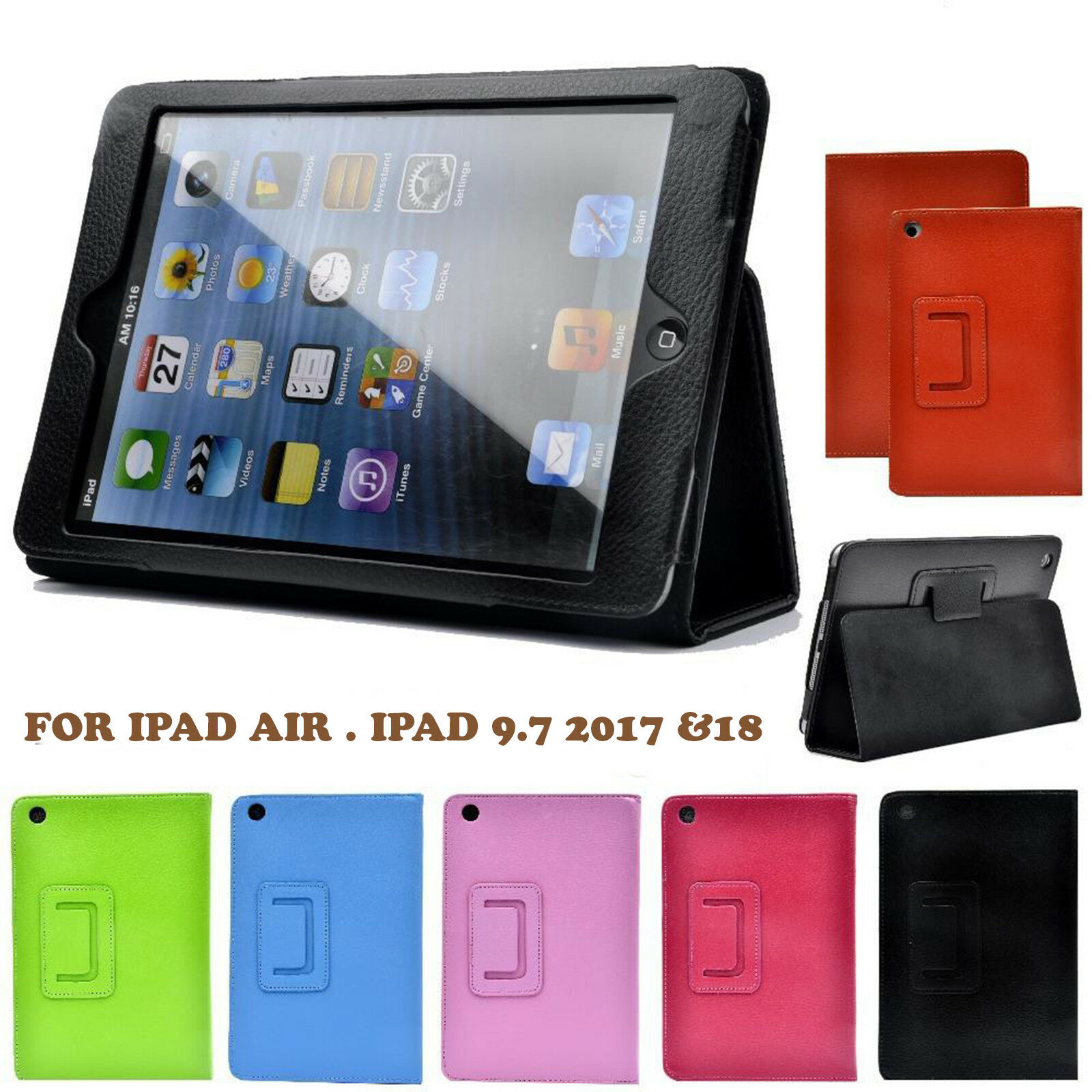 Genuine Apple ipad Rotating Stand Case Cover FOR  iPad Air, ipad 9.7 2017 & 2018