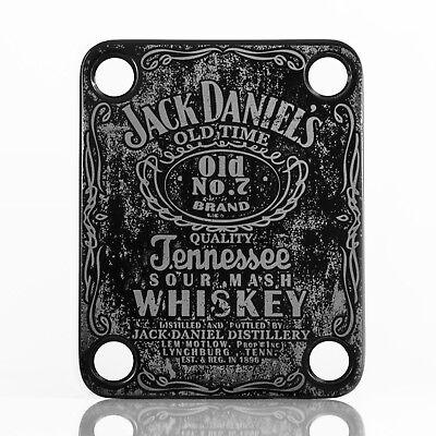 NICKEL Engraved Guitar//Bass Neck Joint Heel//Back Plate Standard 4 Bolt #2036