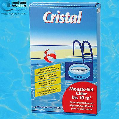 Cristal Chlor Monats Set für Pool bis 10m³ ()