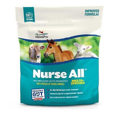 Nurseall Milk Replacer Powder Multi-species 8lb Calf Lamb Fawn Pup Foal Pig