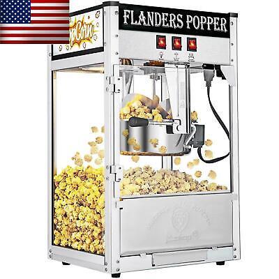 Zokop Commercial Vintage Style Popcorn Maker Machine 8oz Hot Oil Corn Popper