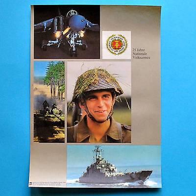 DDR Plakat Poster 288 | 25 Jahre NVA Volksarmee 1981 | 40 x 29 cm Original