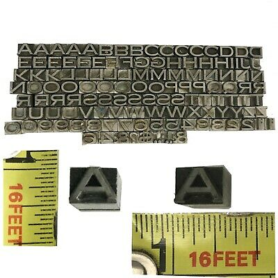 Kingsley Kwikprint Stamping Machine Type Letter Set Block