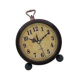 Konigswerk Vintage Alarm Clock, Analog Table Desk Clock Battery Operated for ...