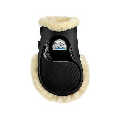 Veredus STS Carbon Gel Vento Fur Lined Air Cooling FETLOCK Boots Black/Brown covid 19 (Air Gel Carbon coronavirus)