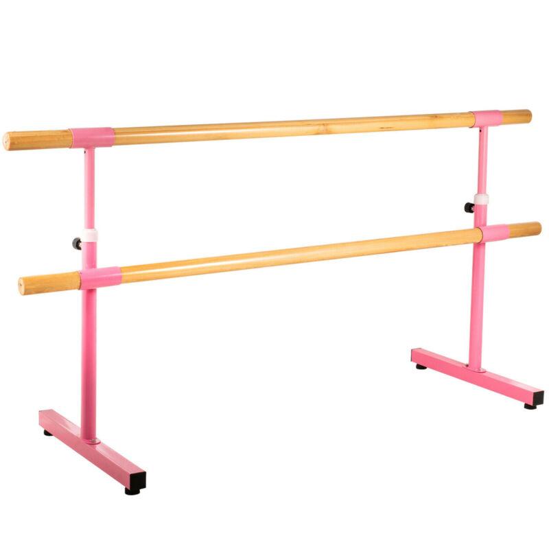 6.5FT Ballet Barre Freestanding Bar Double Bar Leg Stretching Dancing Training