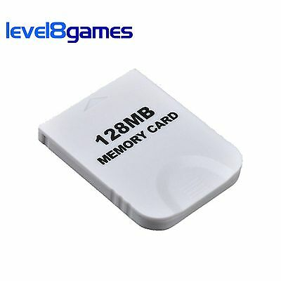 128MB White Memory Card for Nintendo GameCube Wii (Brand New)